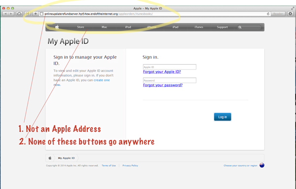 apple scam screenshot phishing